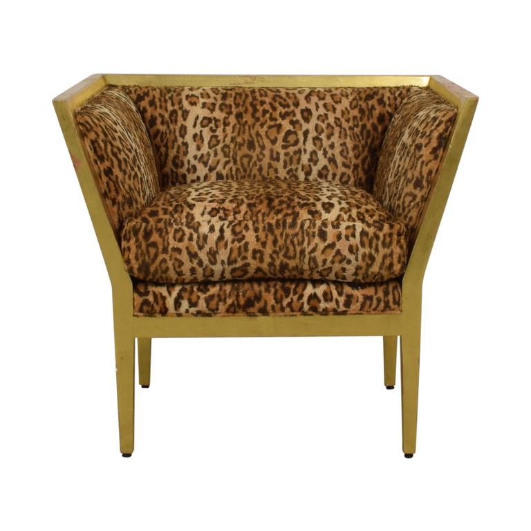 shop Furniture Masters Leopard Distressed Accent Chair Furniture Masters