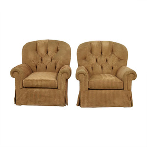 Furniture Masters Brown Tufted Club Chairs Furniture Masters