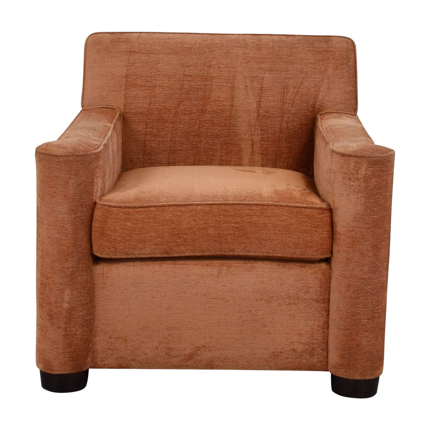 Furniture Masters Furniture Masters Brown Orange Upholstered Club Chair nyc