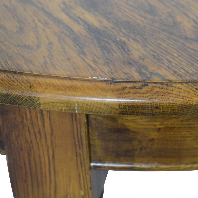 Crate & Barrel Crate & Barrel Round Oak Extendable Dining Table nj