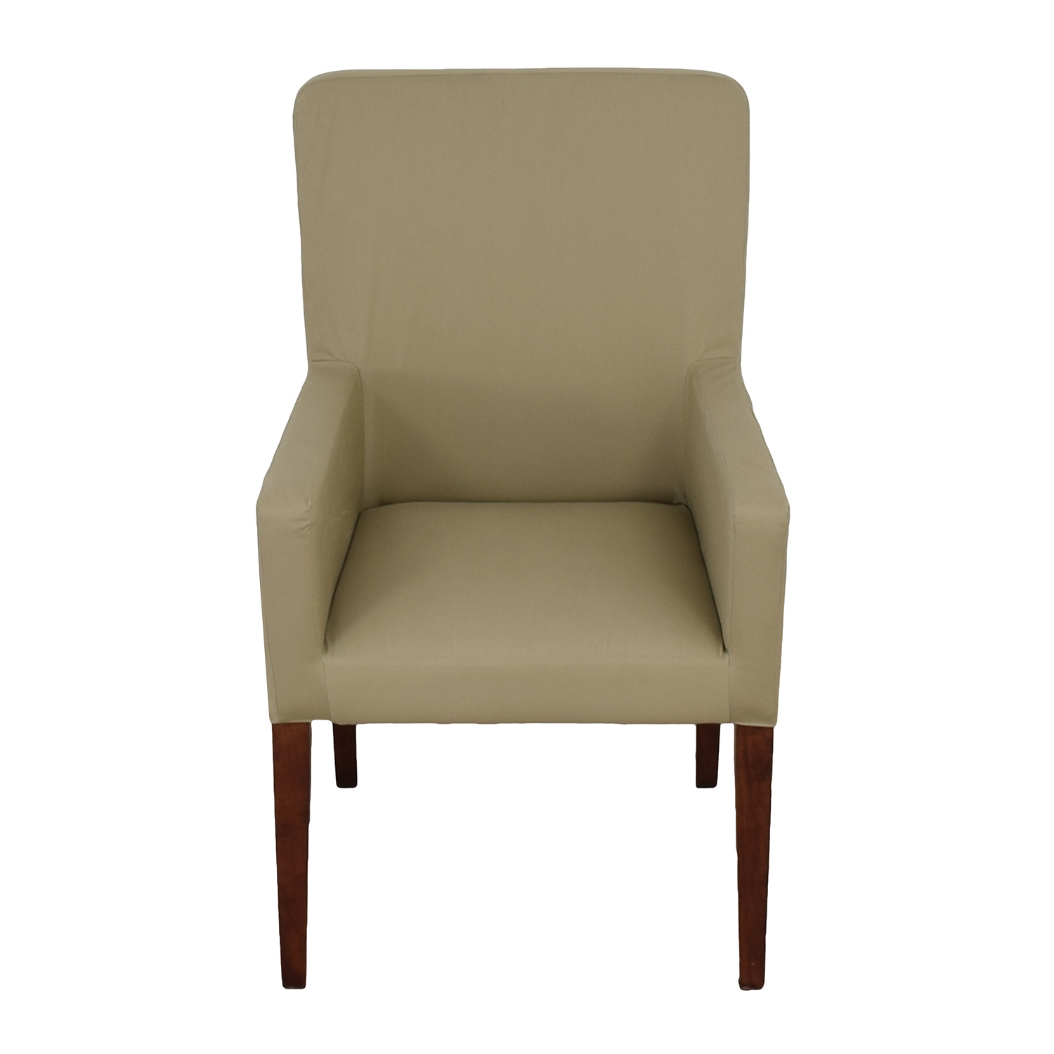 90 off pottery barn pottery barn megan beige accent chair chairs. Black Bedroom Furniture Sets. Home Design Ideas