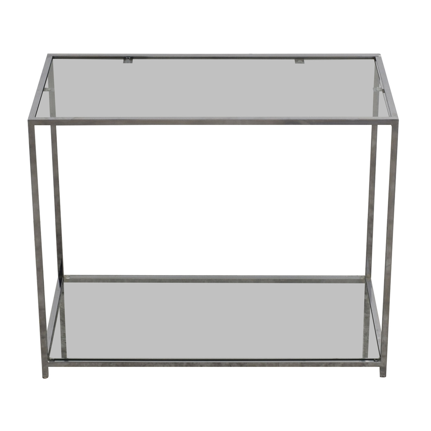 Modern Glass and Chrome Console Table nyc