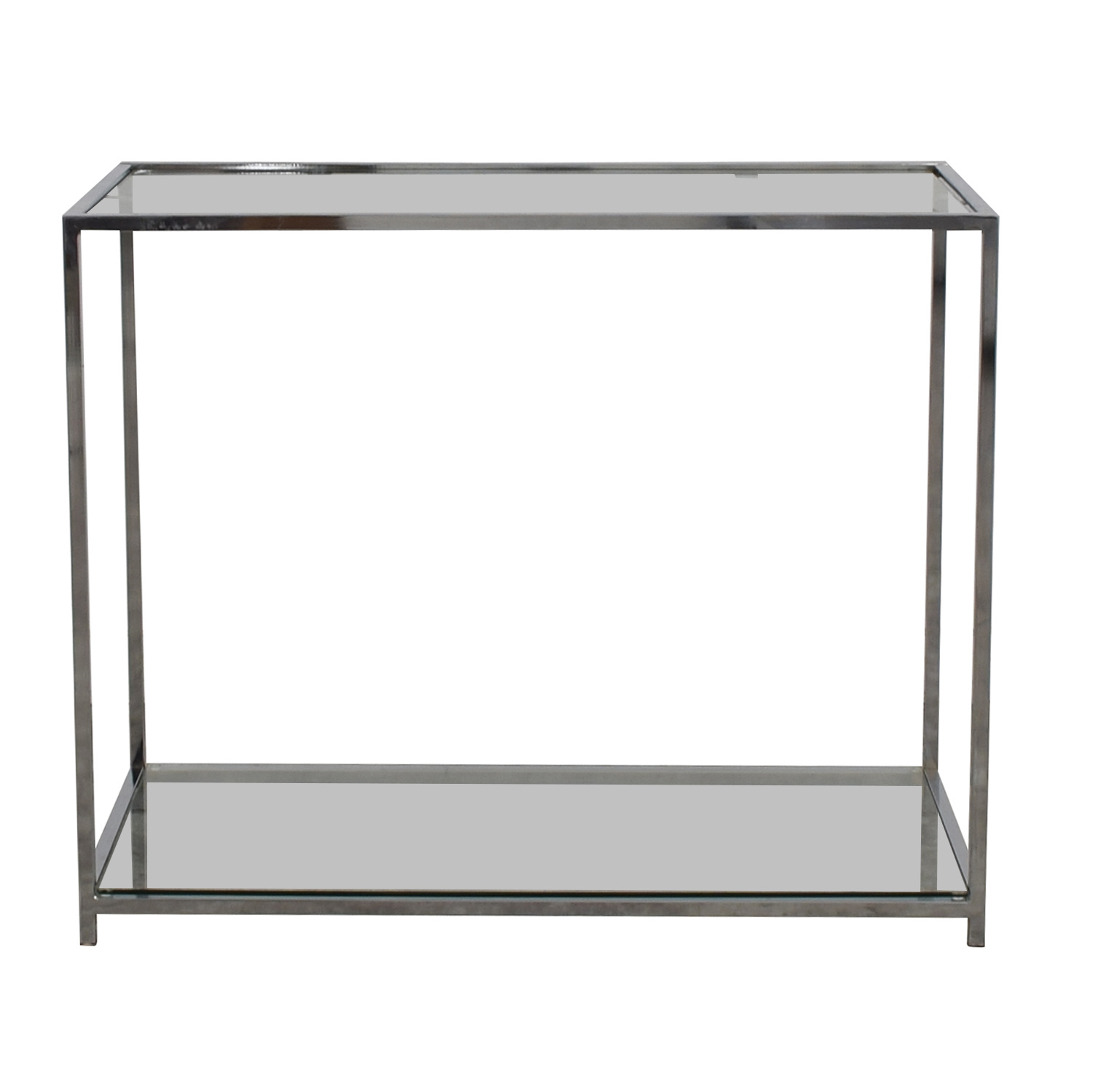 Modern Glass and Chrome Console Table price