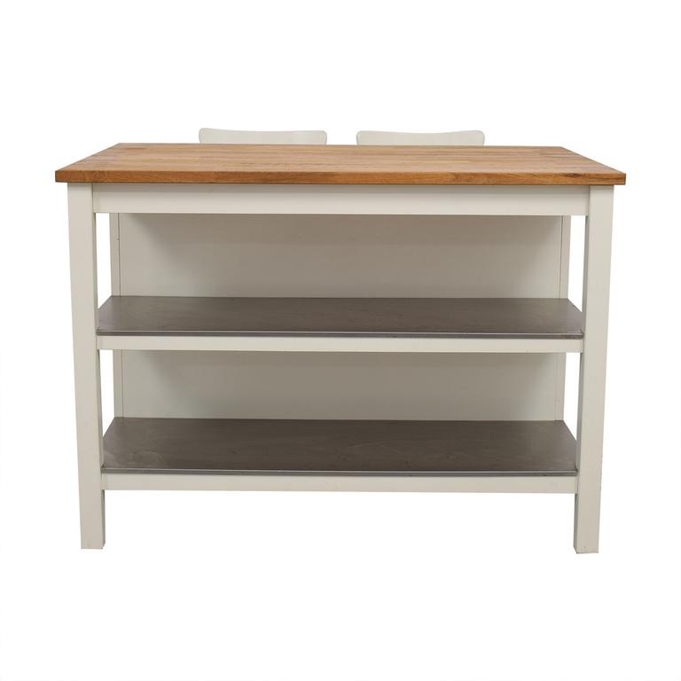 buy IKEA IKEA Stenstorp Kitchen Island with Ingolf Chairs online