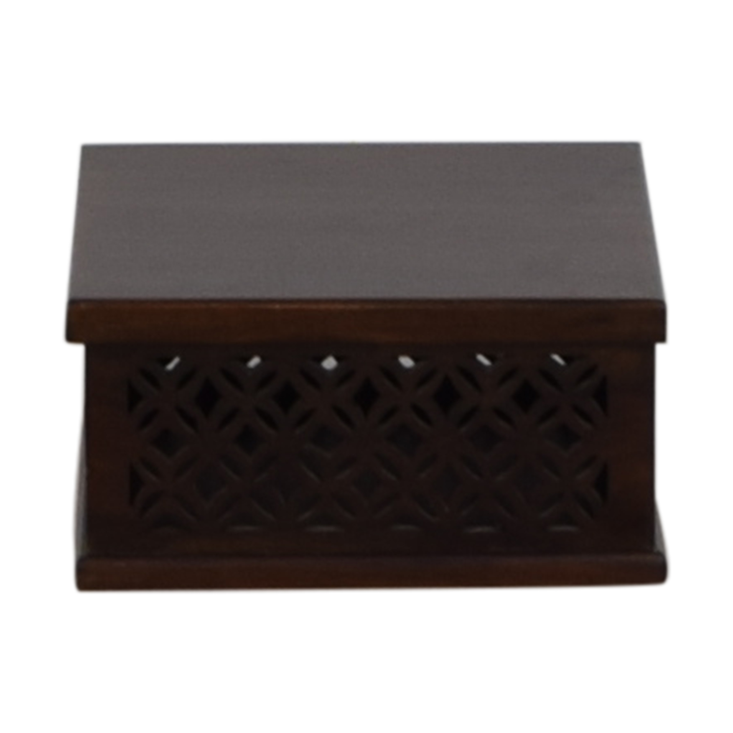 buy Pottery Barn Carved Wood Box with Hinge Top Pottery Barn Decorative Accents