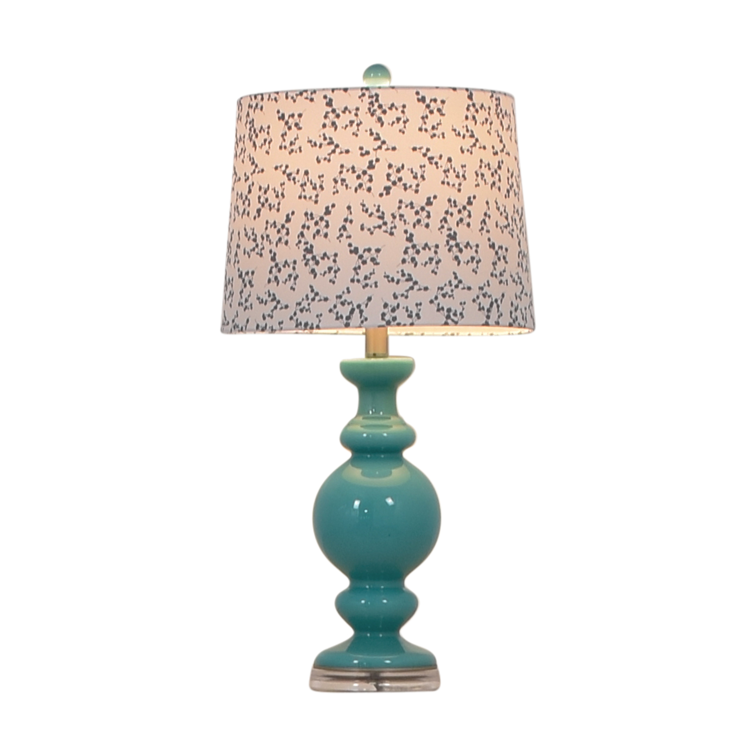 Green Lamp with Printed Shade Lamps
