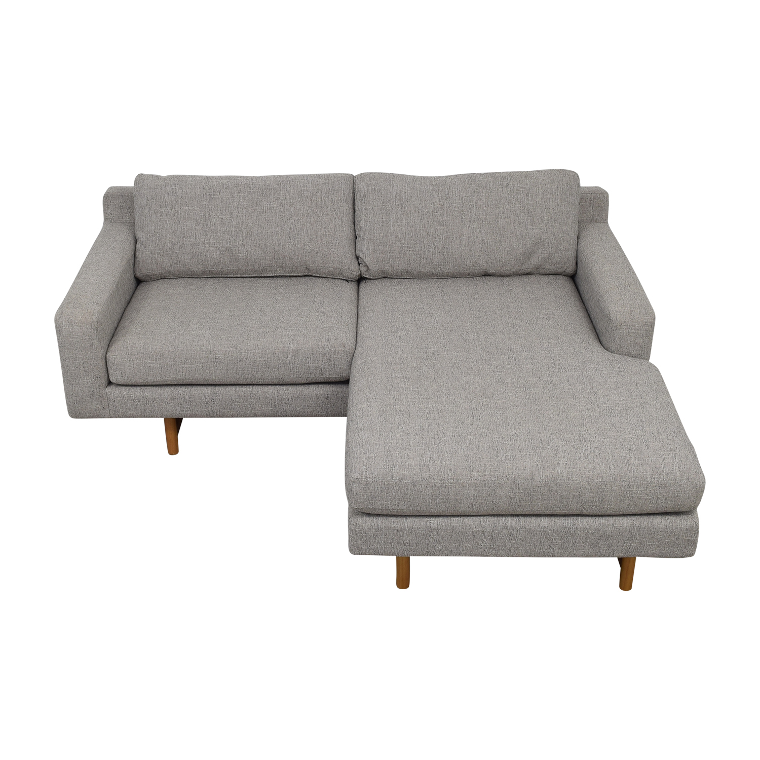 West Elm West Elm Eddy Flip Gray Chaise Sectional second hand