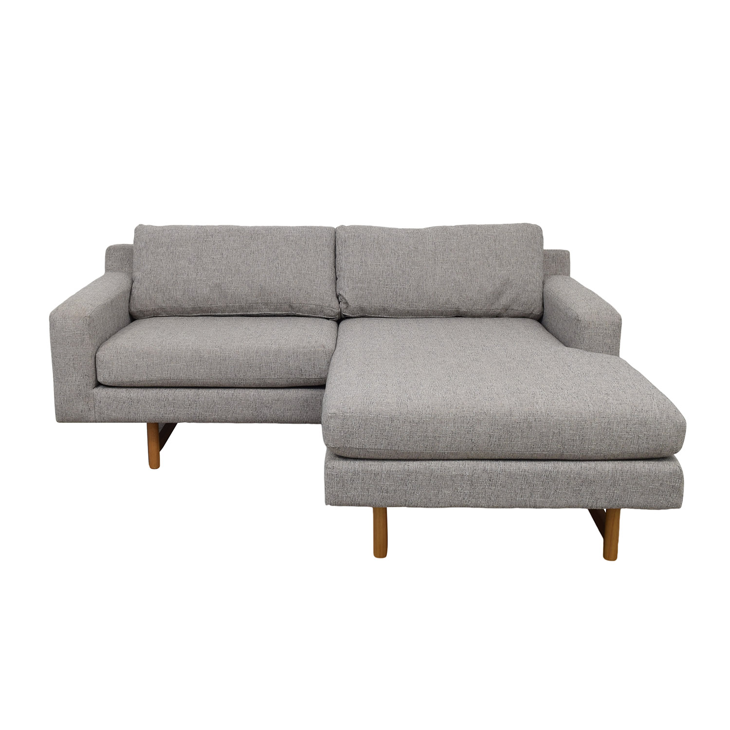 buy West Elm Eddy Flip Gray Chaise Sectional West Elm Sectionals