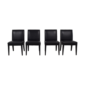Lazar Lazar Brown Leather Dining Chairs