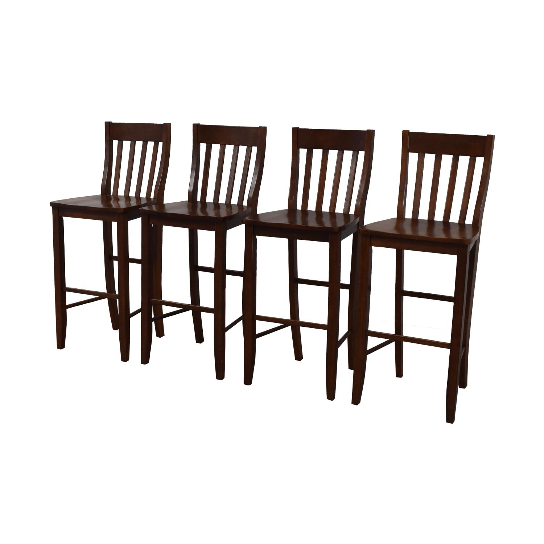 Crate & Barrel Crate & Barrel Wood Bar Stools Chairs