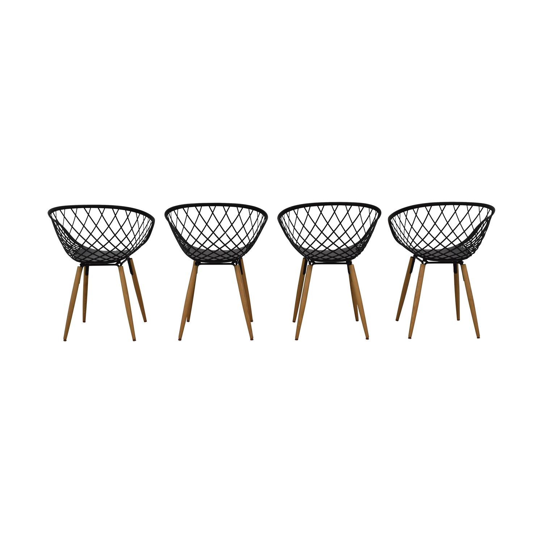 buy CB2 Sidera Black Chairs CB2