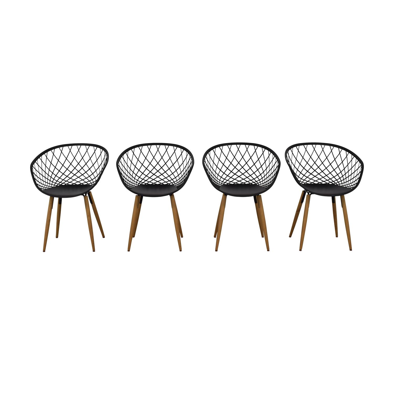 shop CB2 Sidera Black Chairs CB2 Dining Chairs