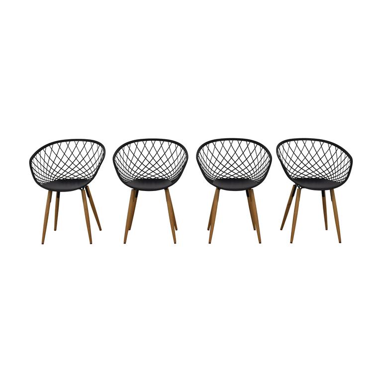 CB2 Sidera Black Chairs sale