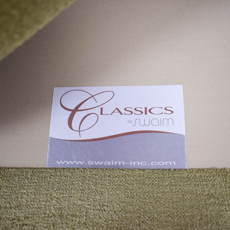 shop Swaim Furniture Kaleidoscope Green Chaise Lounge Swaim