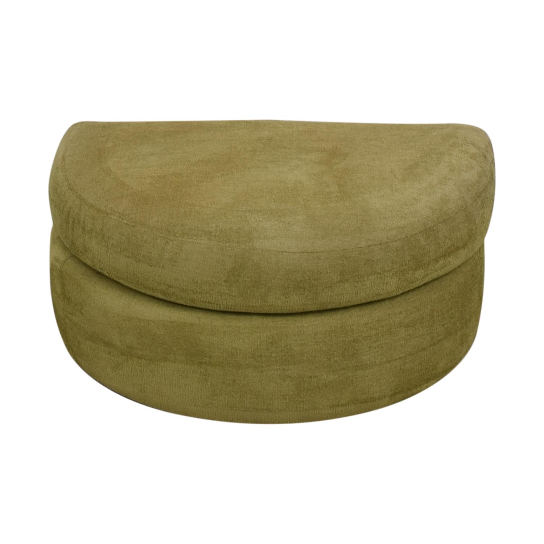 Swaim Furniture Swaim Furniture Green Half Circle Ottoman on sale