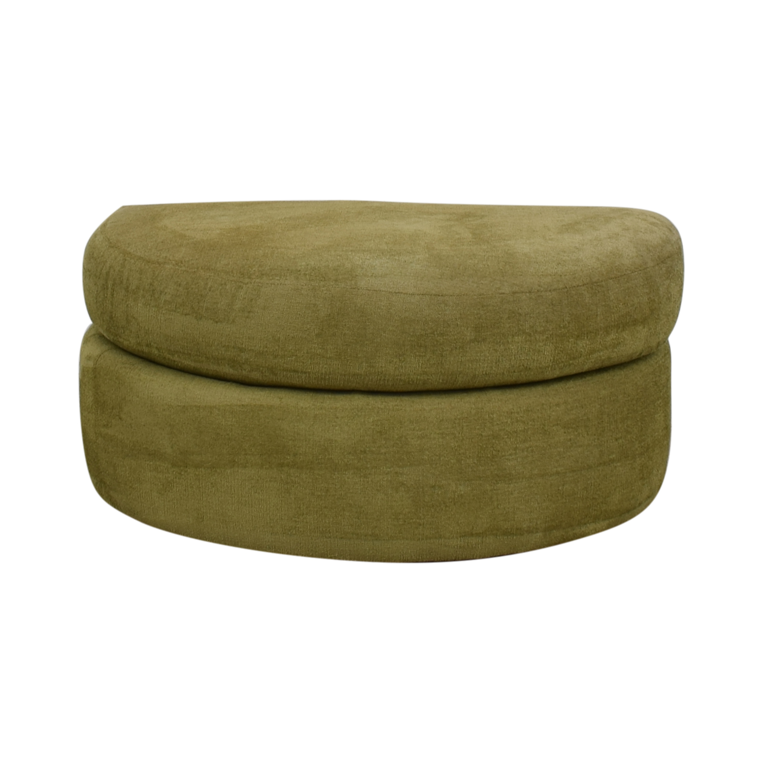 Swaim Furniture Swaim Furniture Green Half Circle Ottoman used