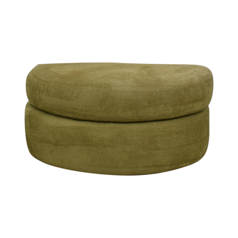 Swaim Swaim Furniture Green Half Circle Ottoman for sale