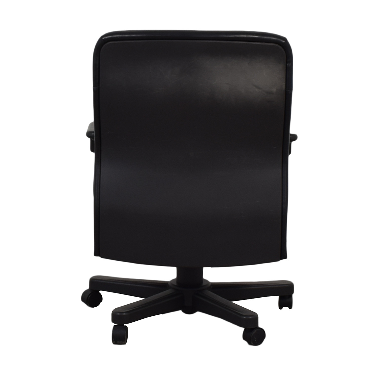 buy Knoll Knoll Black Leather Desk Chair online