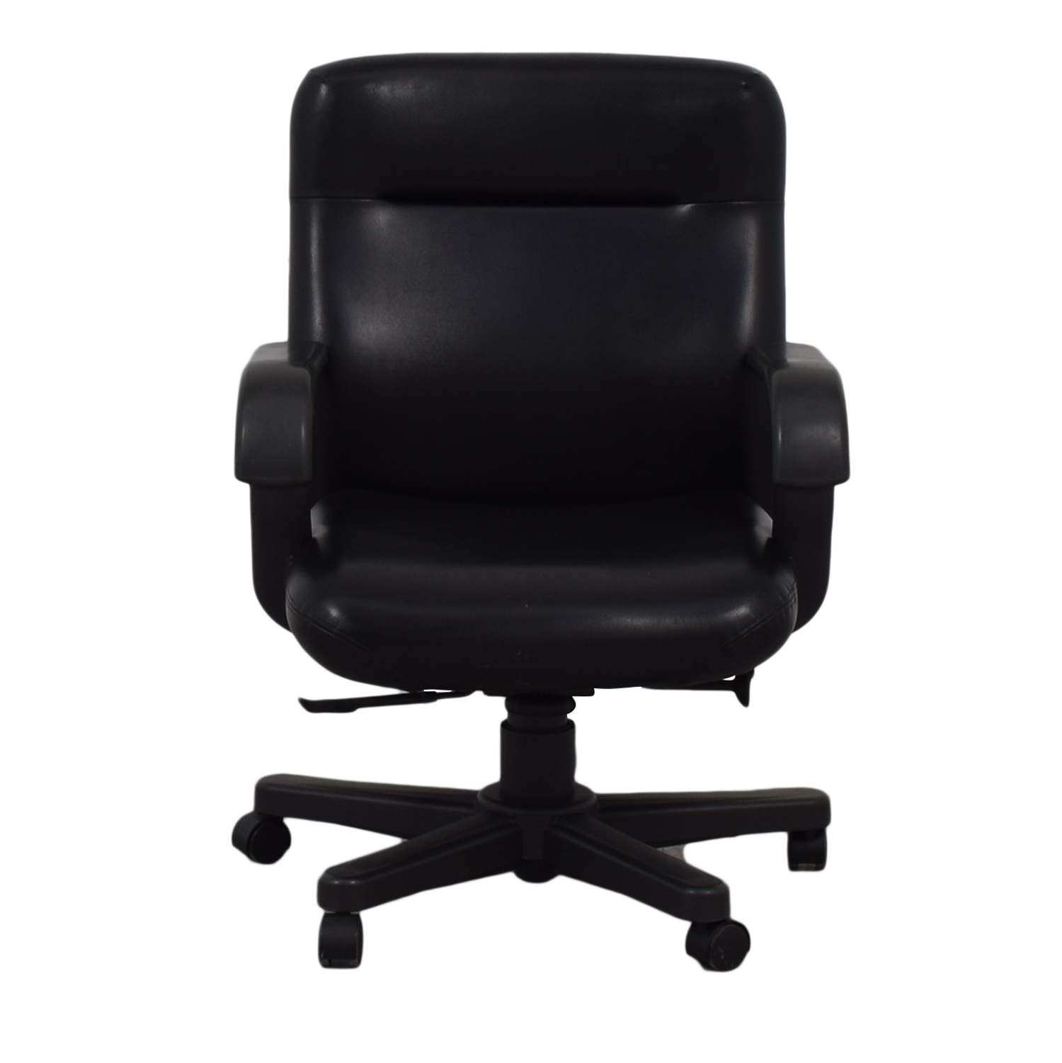 Knoll Knoll Black Leather Desk Chair second hand