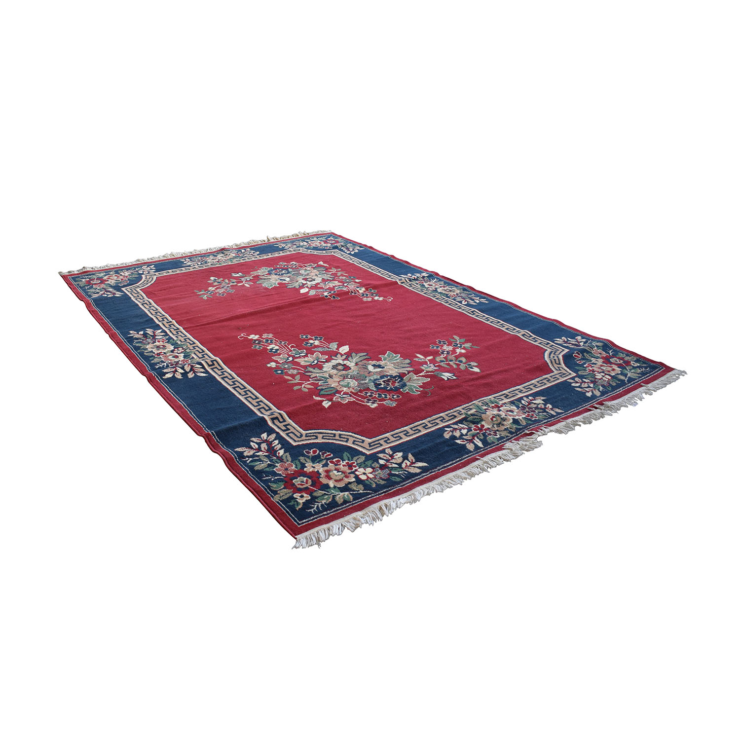 shop Red Pattern Rug with Tassels  Rugs