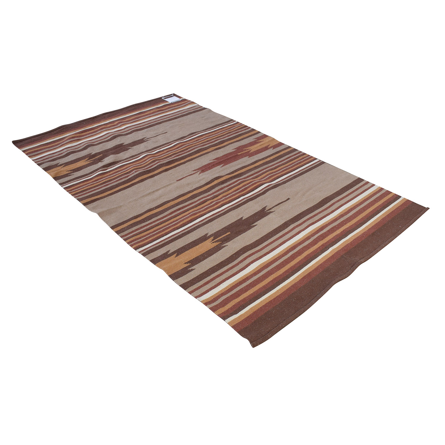 Obeetee Obeetee Red Striped Dhurrie Weave Rug coupon