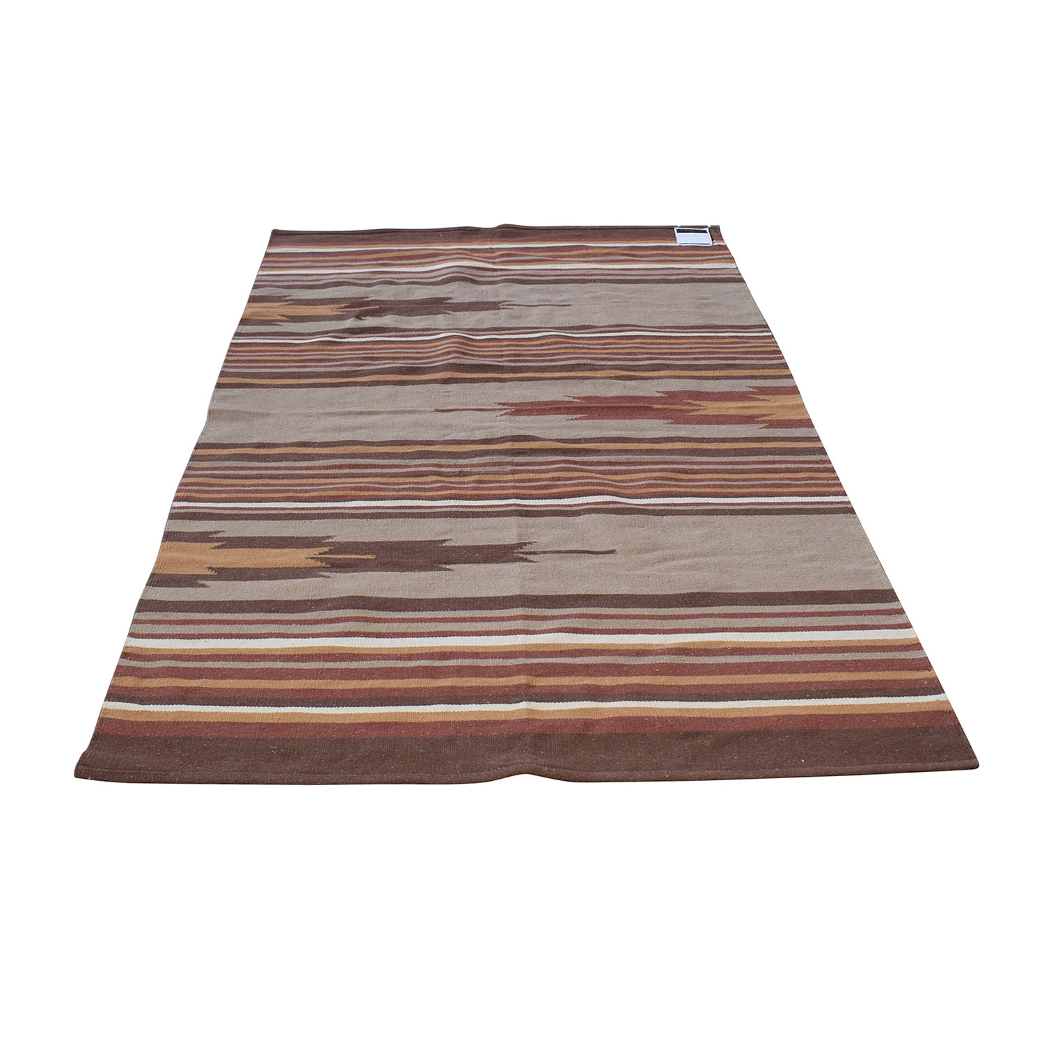 Obeetee Obeetee Red Striped Dhurrie Weave Rug on sale