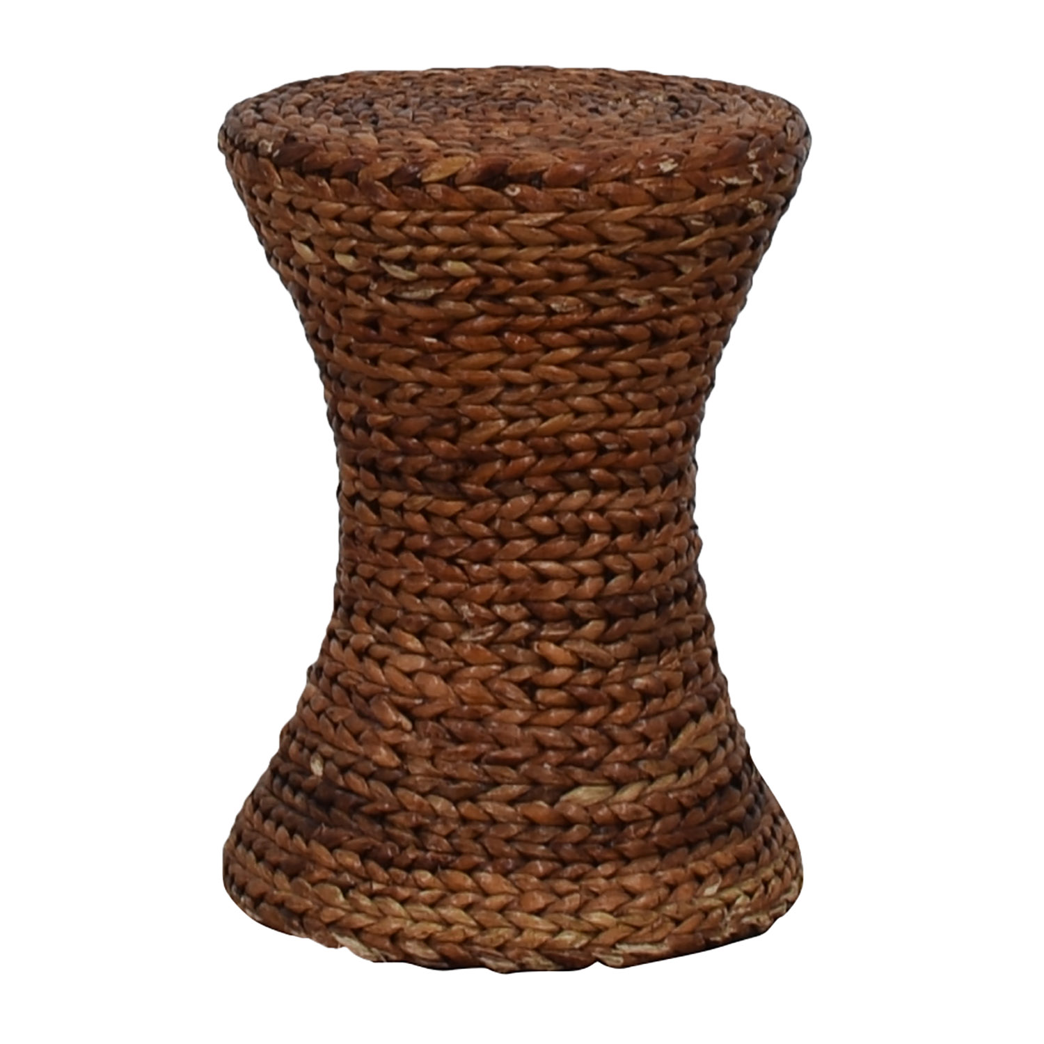 Round Woven Side Table nyc