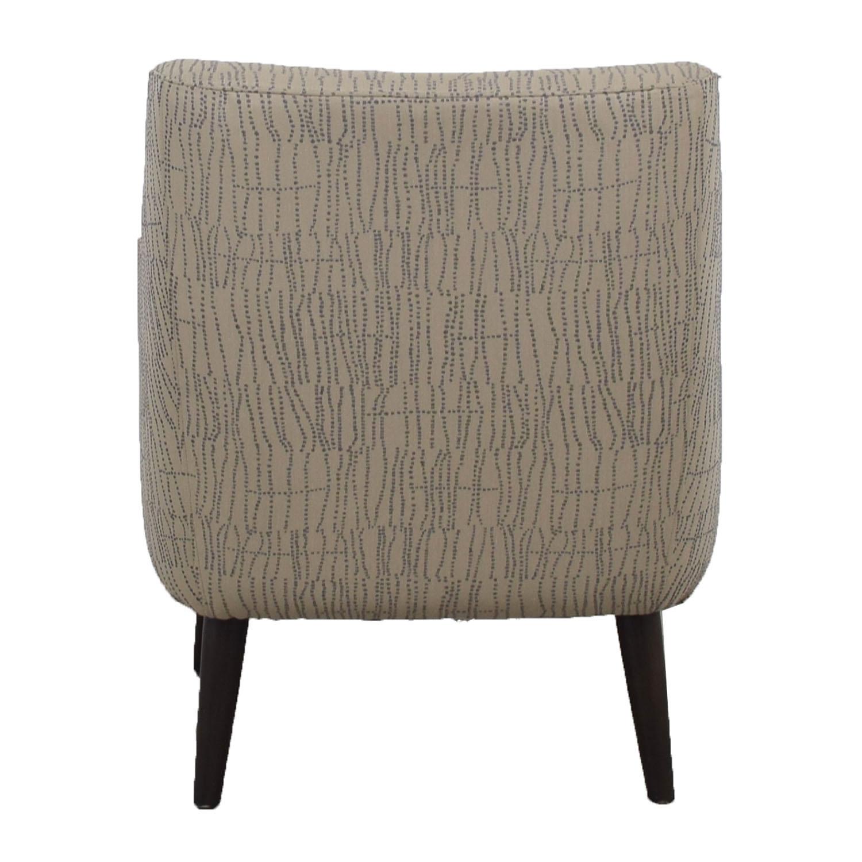 shop Room & Board Quinn Grey Chair and Ottoman Room & Board