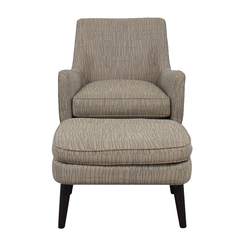 Room & Board Room & Board Quinn Grey Chair and Ottoman