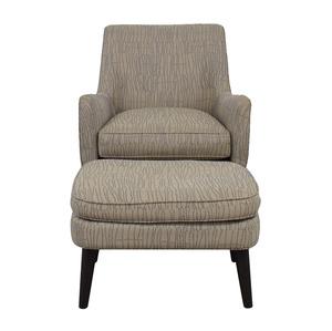 Room & Board Room & Board Quinn Grey Chair and Ottoman nj