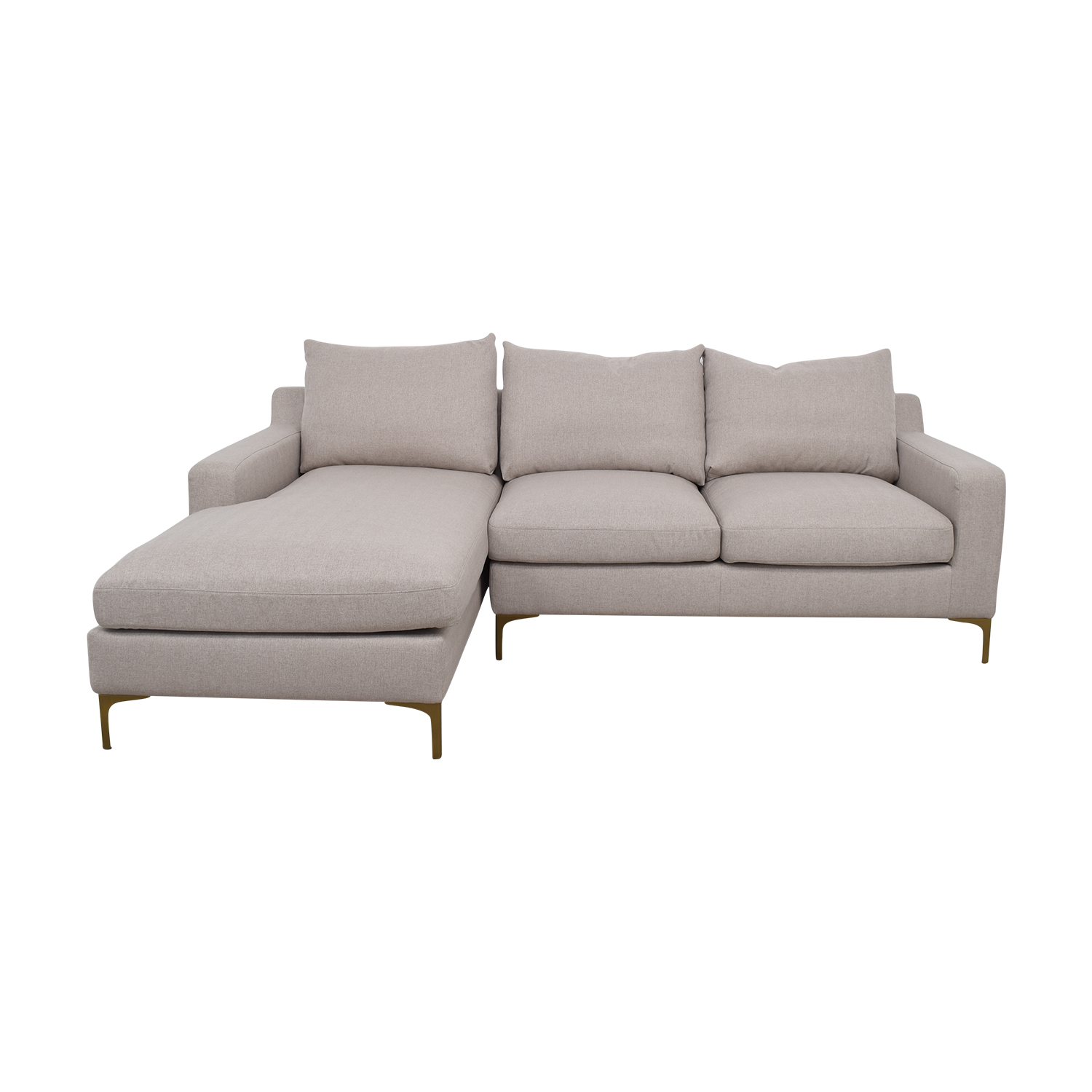 shop Sloan Gray Left Chaise Sectional  Sectionals
