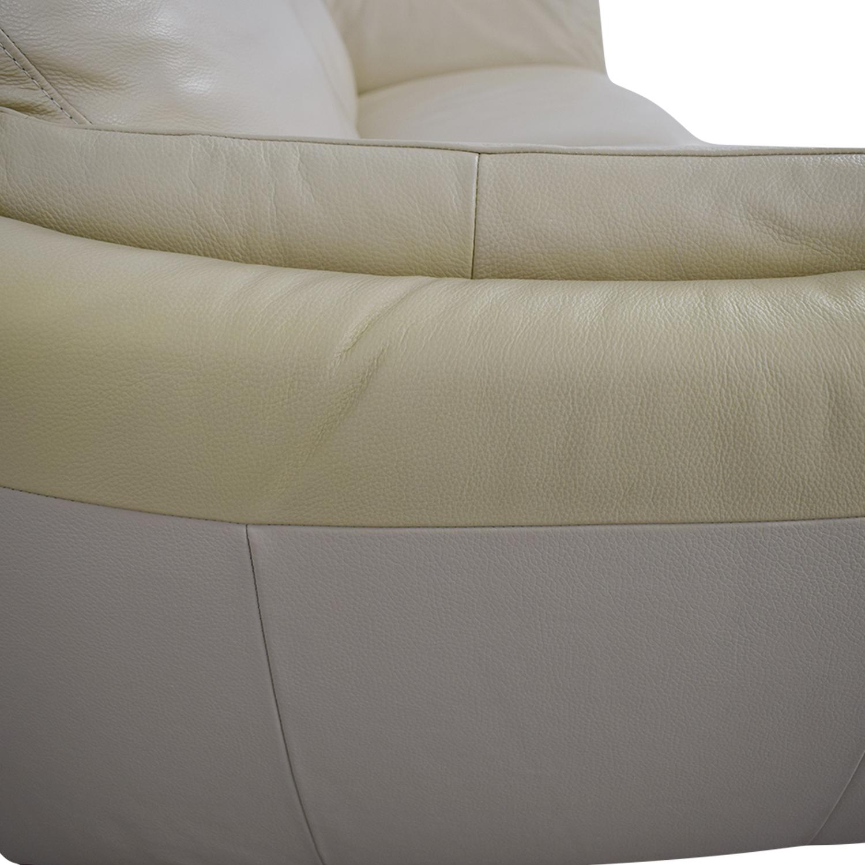 Astonishing 87 Off Natuzzi Natuzzi Greccio Beige Leather Two Cushion Sofa Sofas Caraccident5 Cool Chair Designs And Ideas Caraccident5Info