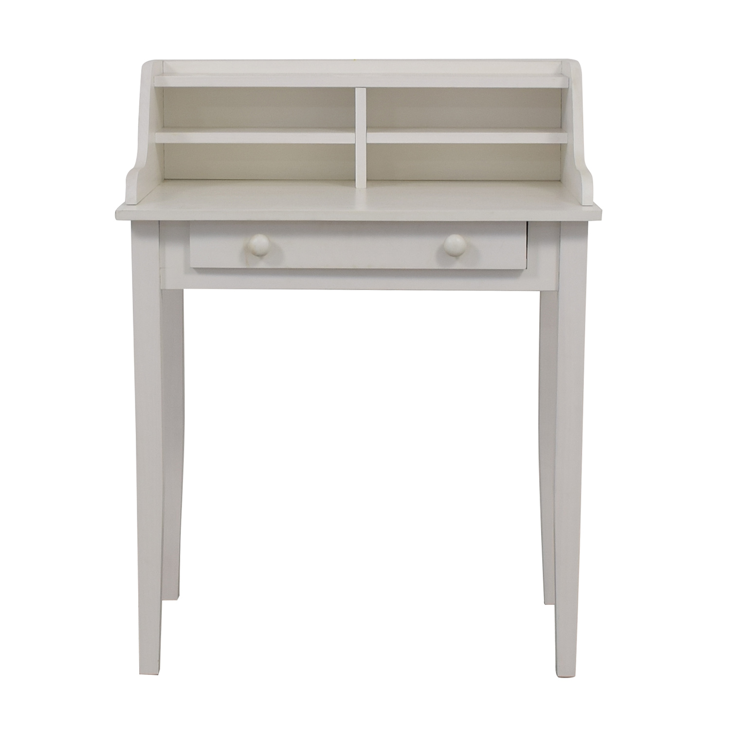 White Single Drawer Writing Desk discount