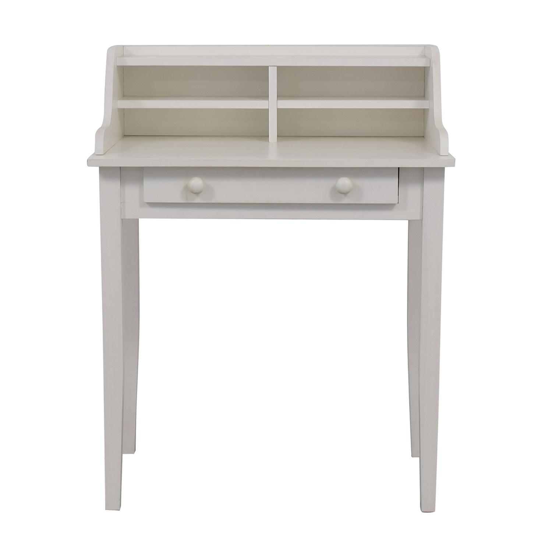 White Single Drawer Writing Desk discount