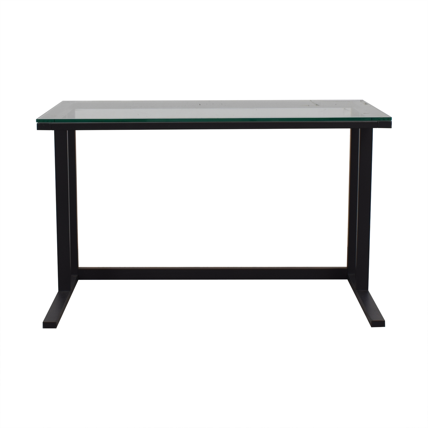 buy  Glass and Black Base Desk online