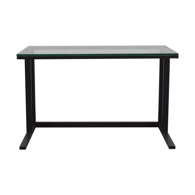 buy  Glass and Black Base Desk online
