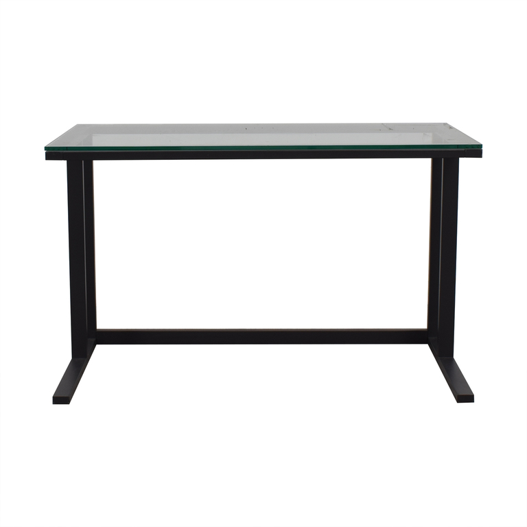Glass and Black Base Desk price