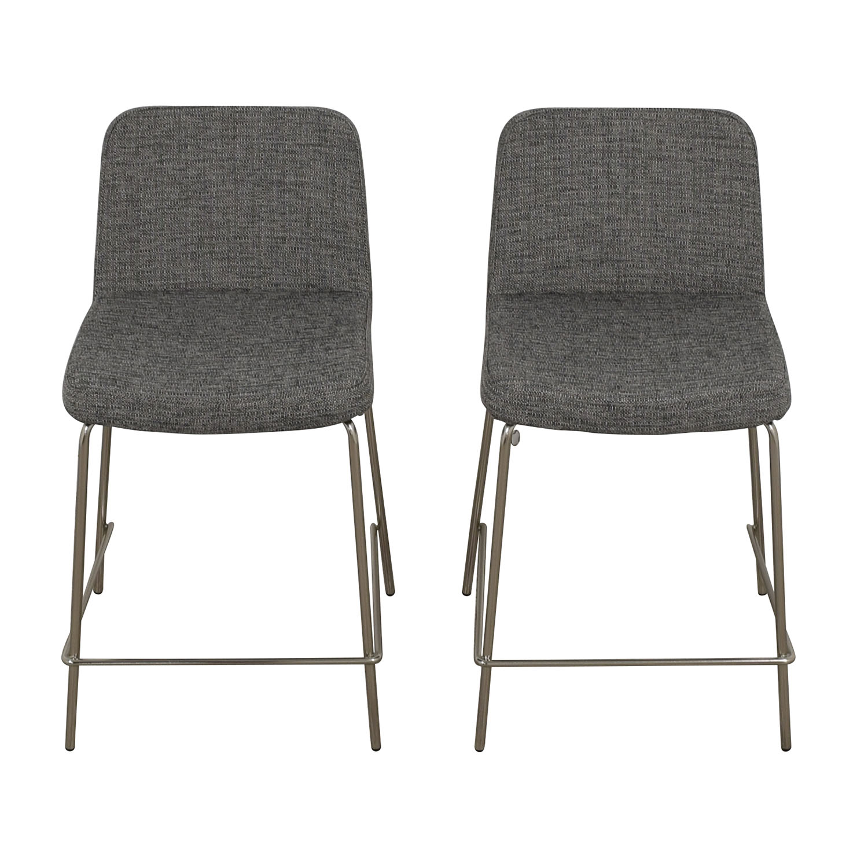 buy CB2 Charlie Counter Gray Stools CB2 Chairs
