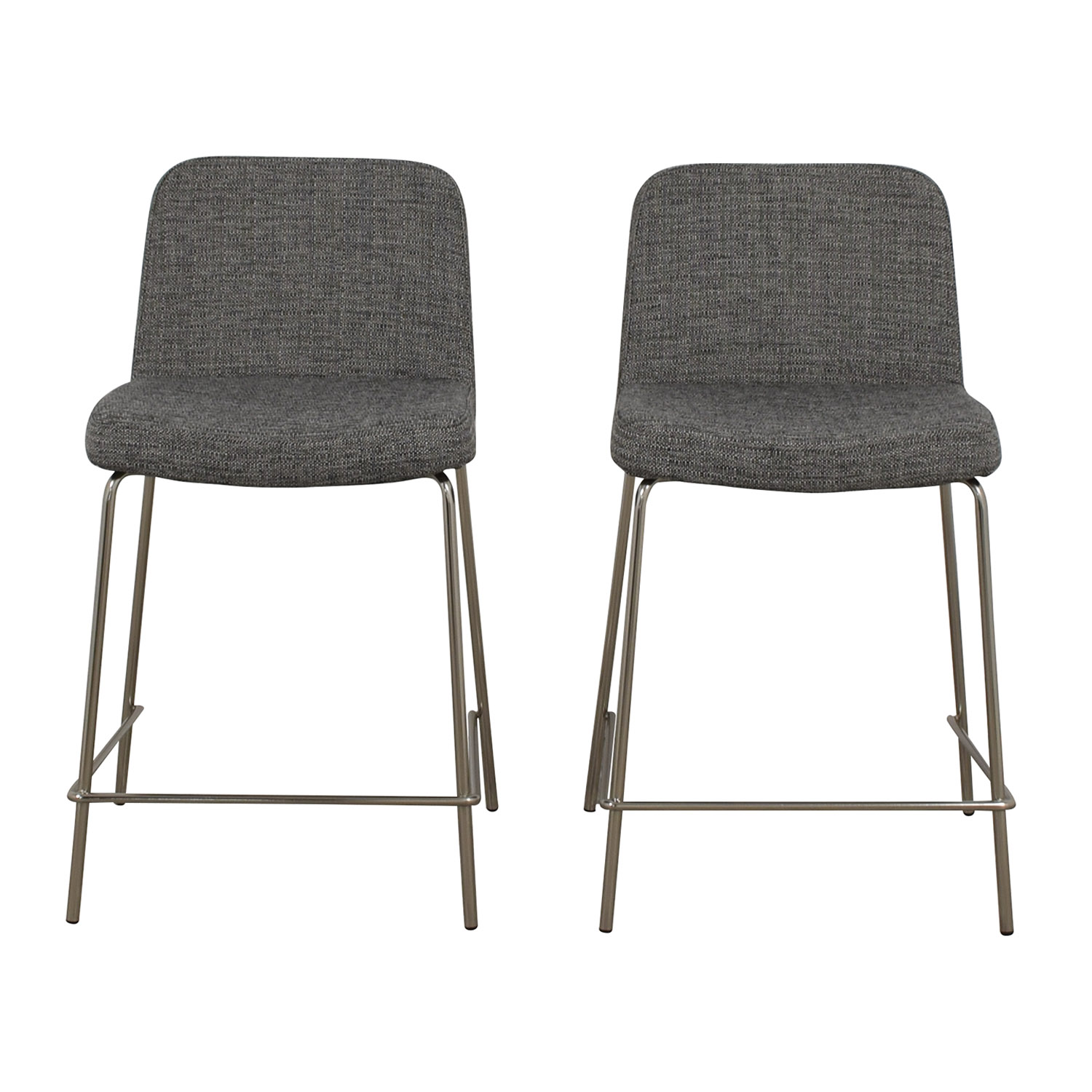 CB2 CB2 Charlie Counter Gray Stools Chairs