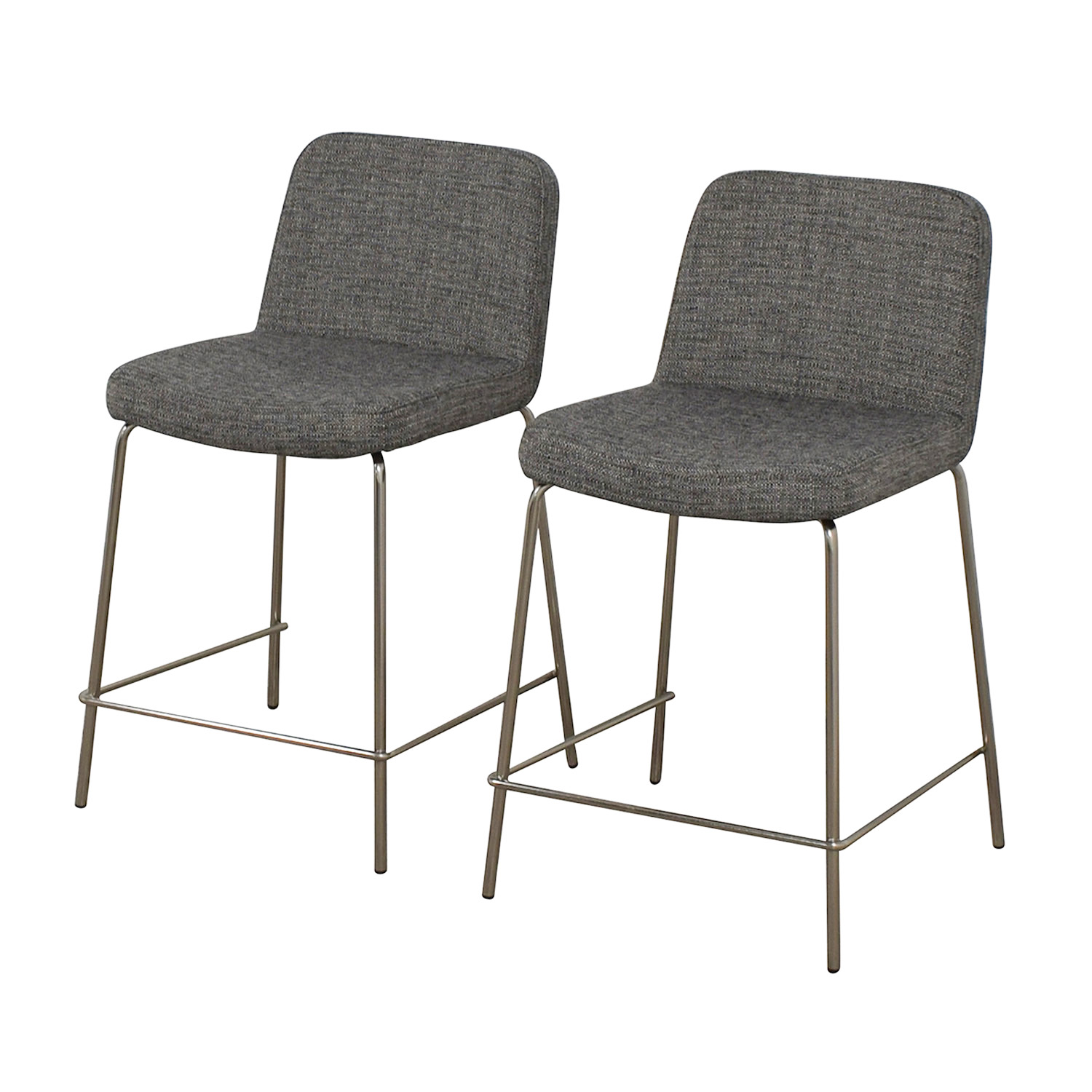 shop CB2 Charlie Counter Gray Stools CB2 Chairs