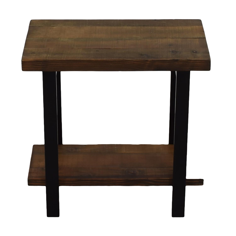 Loon Peak Somers Reclaimed Wood End Table Nj