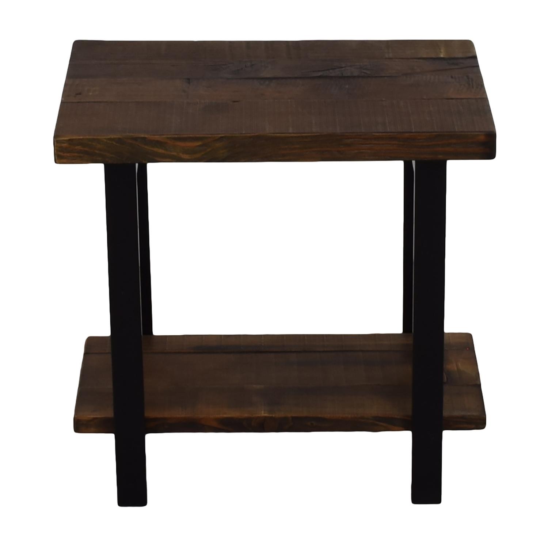 Loon Peak Loon Peak Somers Reclaimed Wood End Table nj