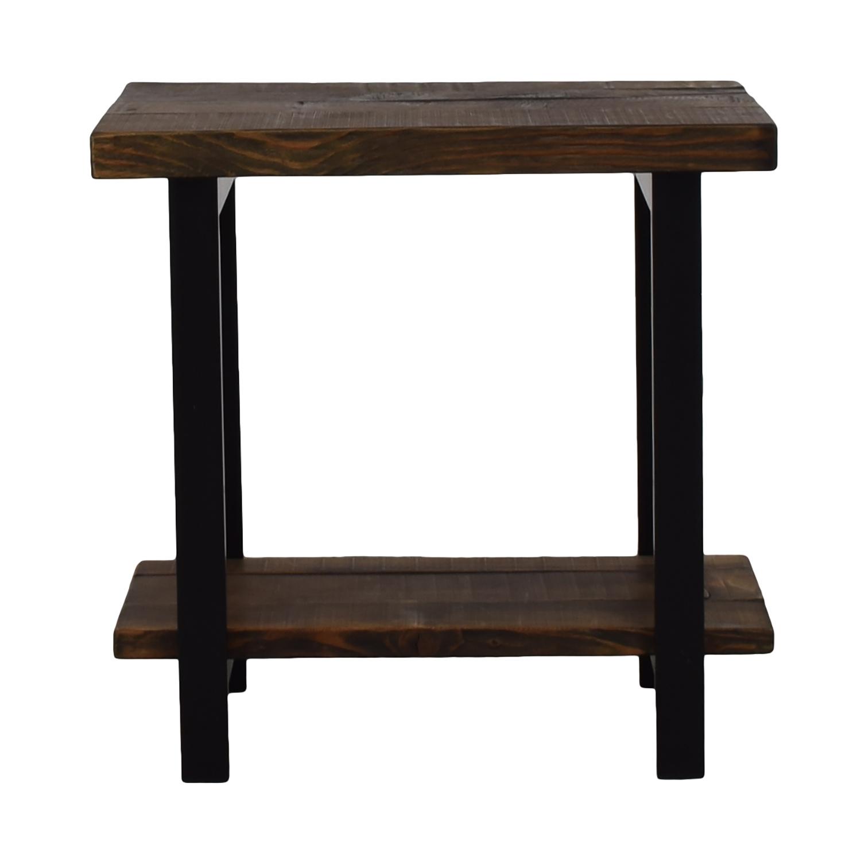 Loon Peak Loon Peak Somers Reclaimed Wood End Table for sale
