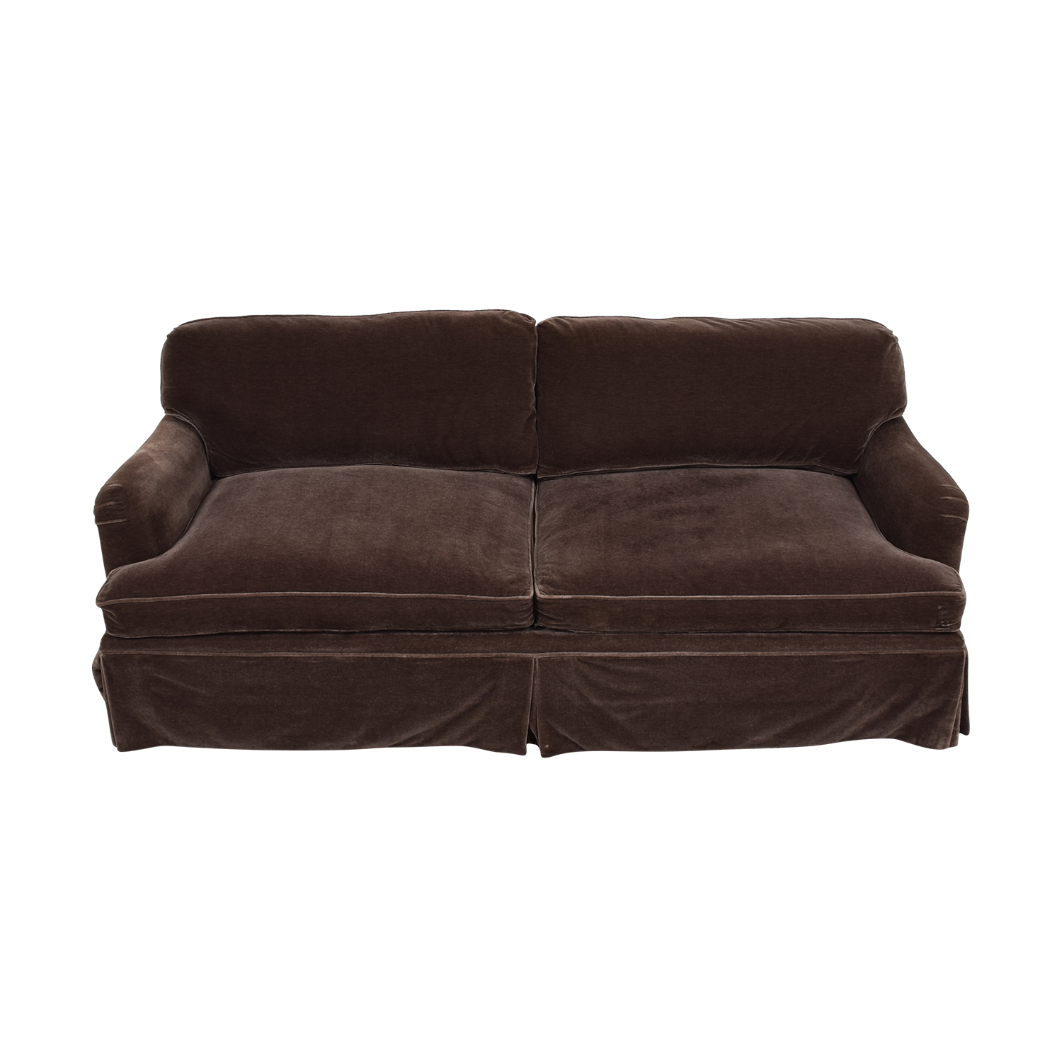 shop Brown Mohair Two-Cushion Couch  Classic Sofas