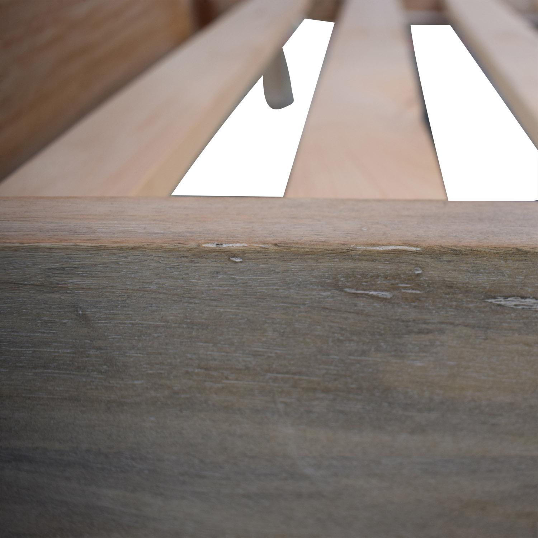 shop West Elm Stria Platform Queen Bed Frame West Elm
