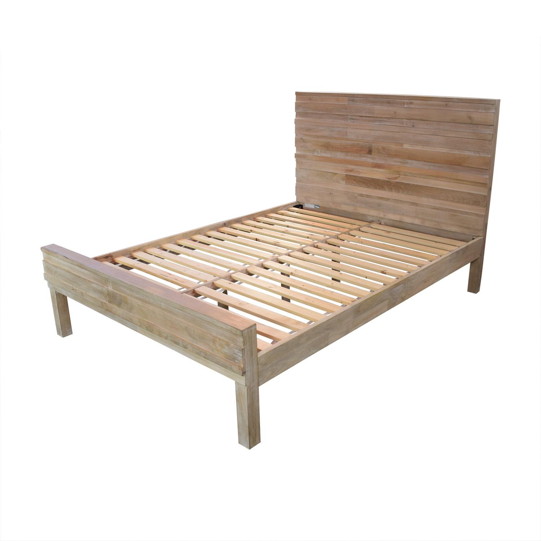 shop West Elm Stria Platform Queen Bed Frame West Elm Beds