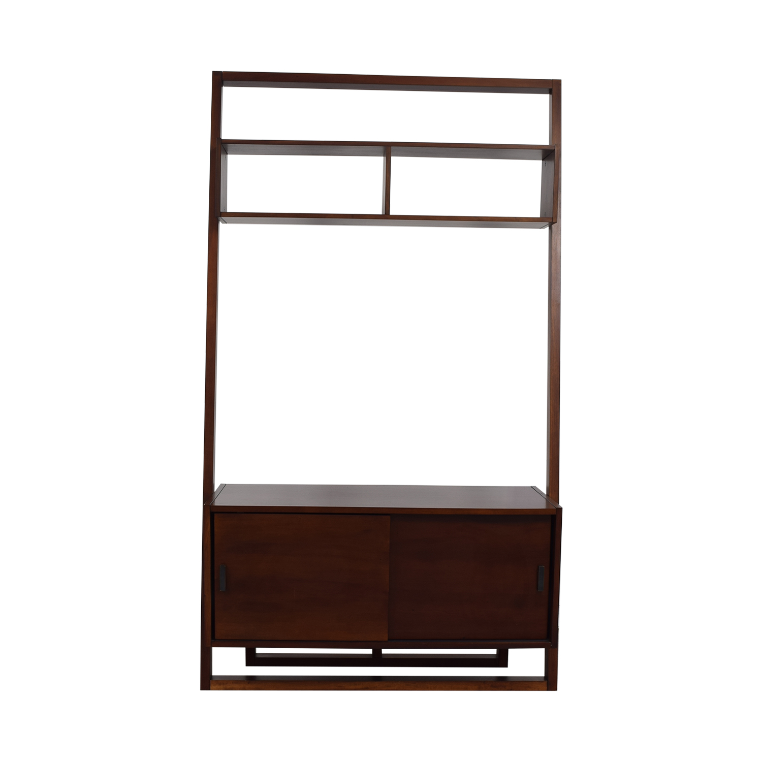 Crate & Barrel Leaning Wood Media Stand sale