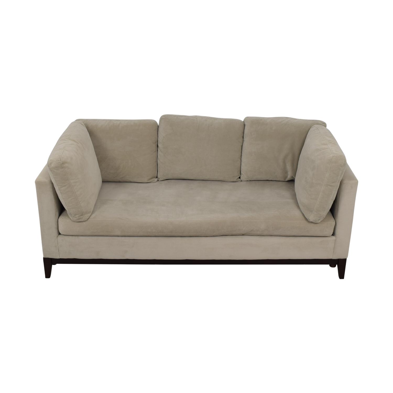 West Elm West Elm Blake Gray Single Cushion Sofa price