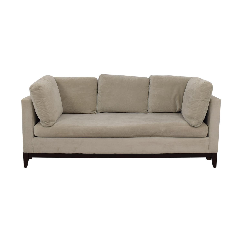 buy West Elm Blake Gray Single Cushion Sofa West Elm Sofas