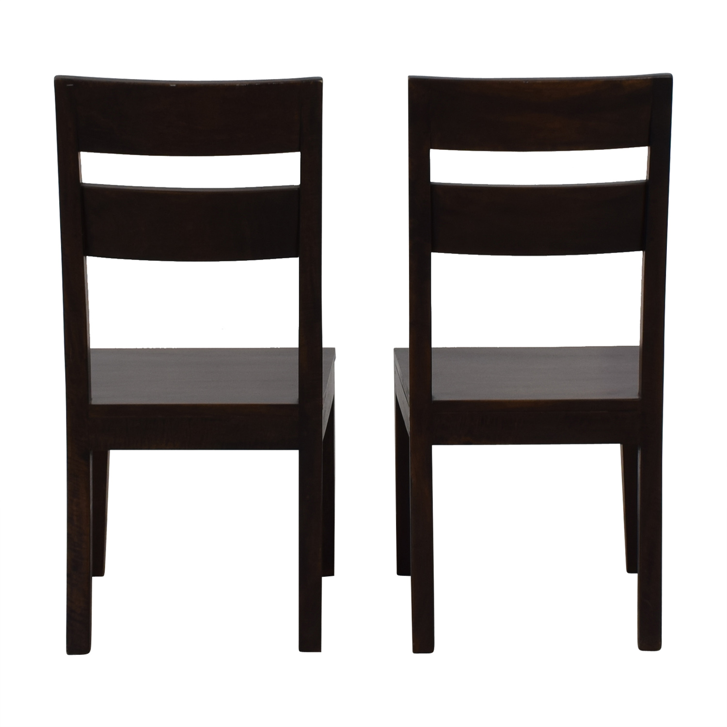 Crate & Barrel Wood Dining Chairs sale
